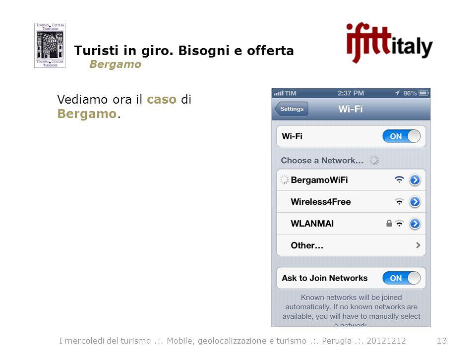 Bergamo 13 Vediamo ora il caso di Bergamo. Turisti in giro.