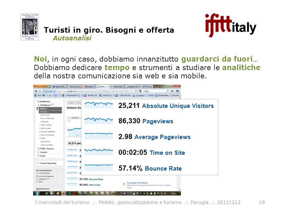 Autoanalisi 19 I mercoledì del turismo.:. Mobile, geolocalizzazione e turismo.:.