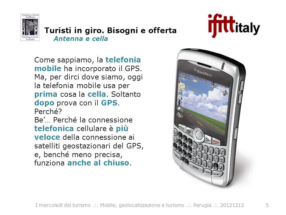 Antenna e cella 5 Come sappiamo, la telefonia mobile ha incorporato il GPS.