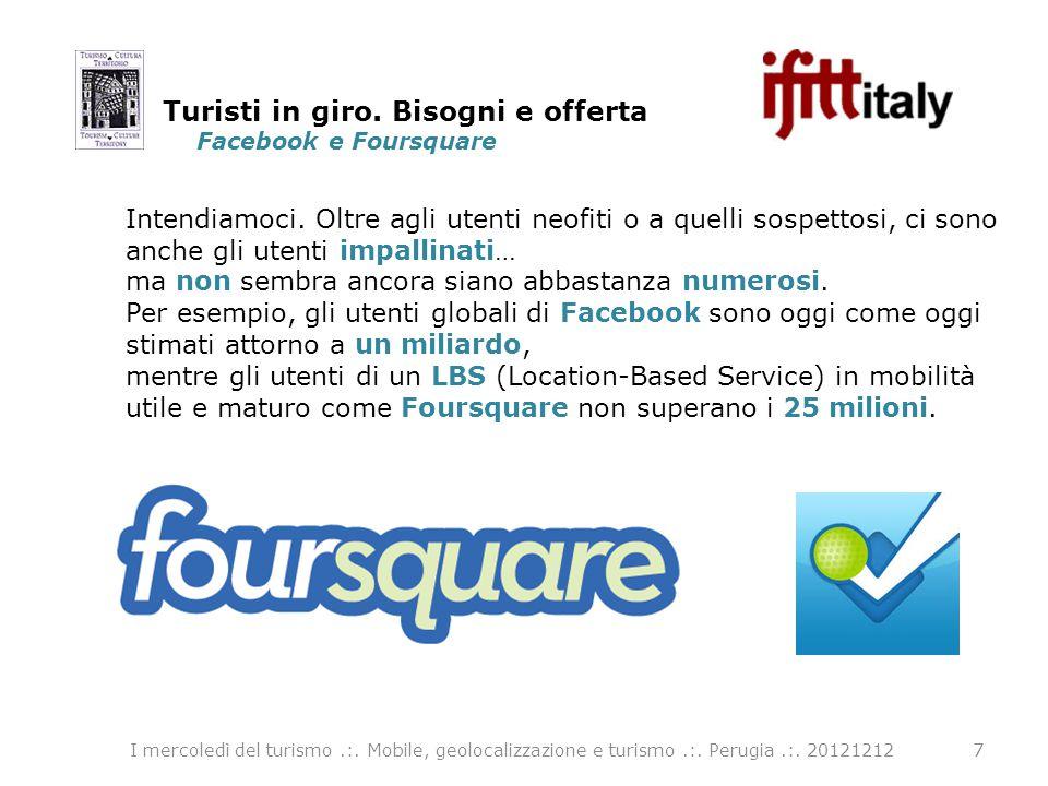 Facebook e Foursquare 7 Intendiamoci. Oltre agli utenti neofiti o a quelli sospettosi, ci sono anche gli utenti impallinati… ma non sembra ancora sian