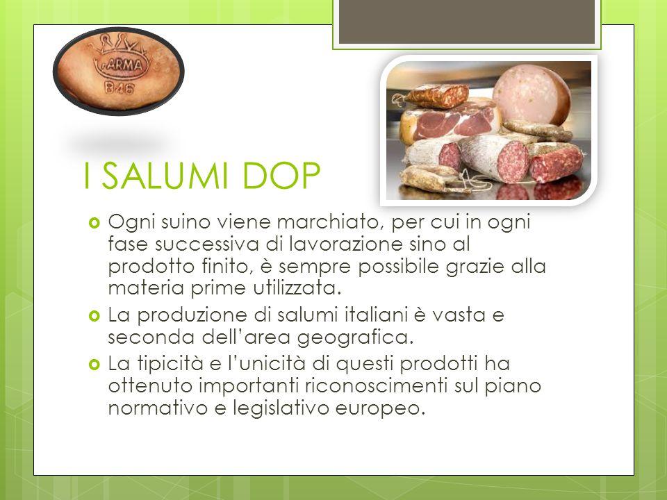 SALUMI NEL PASSATO A OGGI  L'uso delle carni di maiale, soprattutto salate e trasformate in apprezzati salumi ha radice antichissime. Durante il Medi