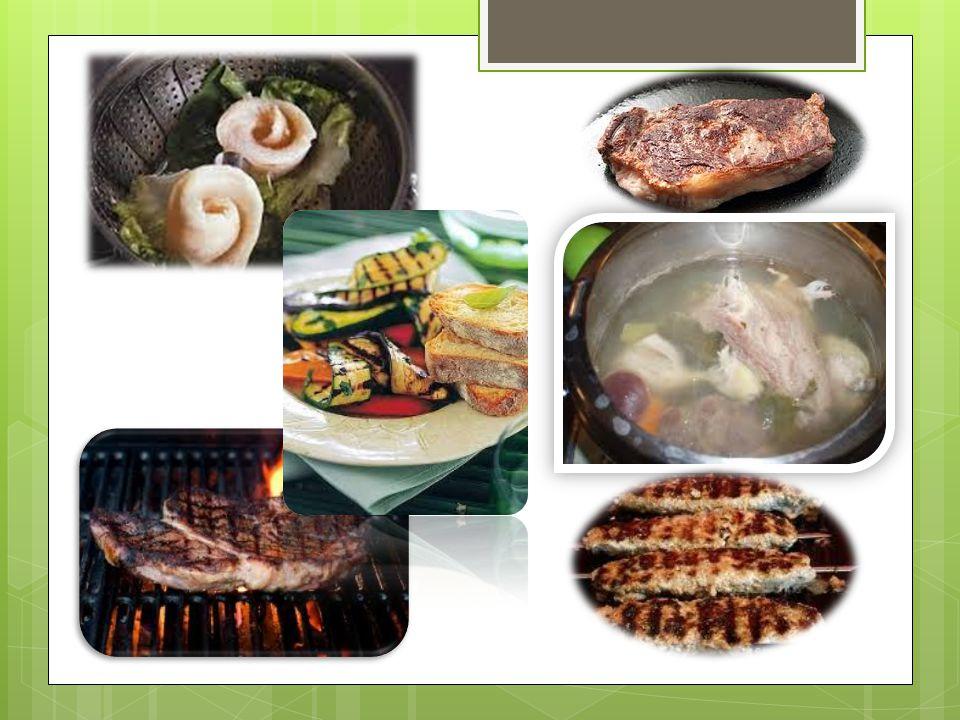 LE DIVERSE COTTURE Per avere un buon sapore senza perdere le sostanze nutritive, bisogna scegliere la cottura adatta:  al forno, la parte più importa
