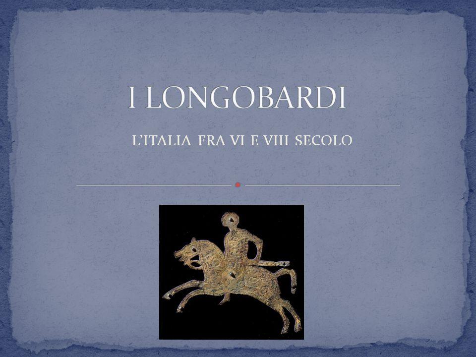 568: arrivo dei Longobardi in Italia (re Alboino).