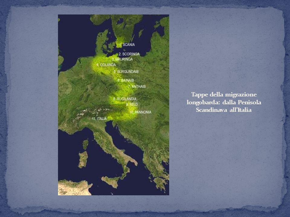 Lingua germanica, che si mescola con le parlate italiane (in formazione a partire dal latino).