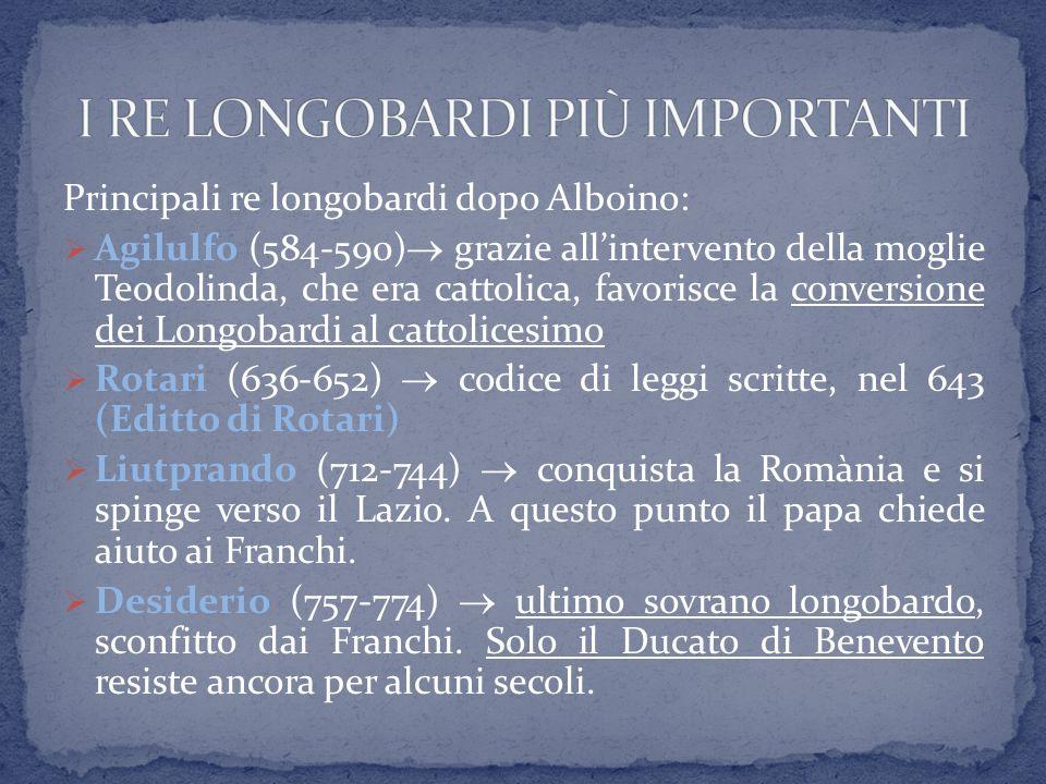 Il re Rotari allargò i domini longobardi sottraendo la Liguria ai bizantini.
