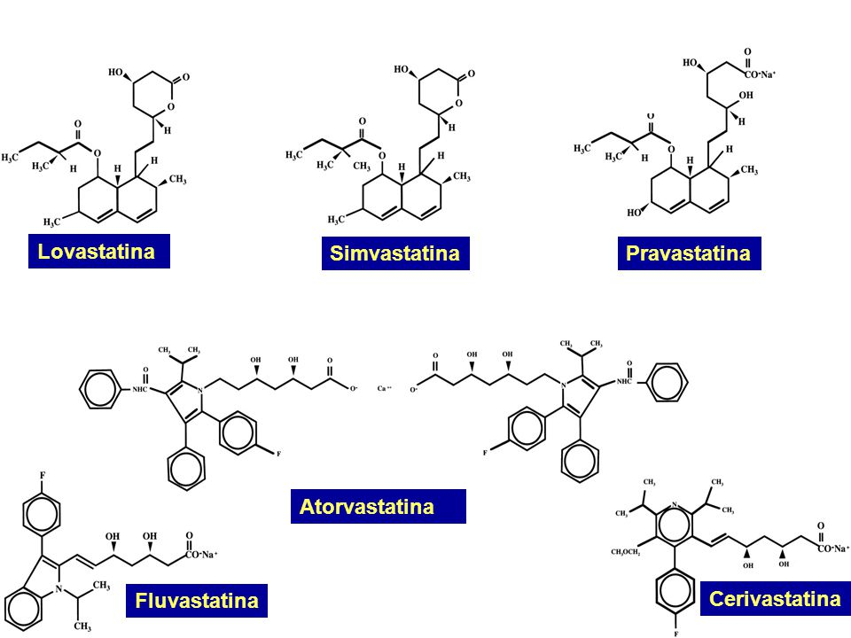 Atorvastatina Fluvastatina SimvastatinaPravastatina Lovastatina Cerivastatina