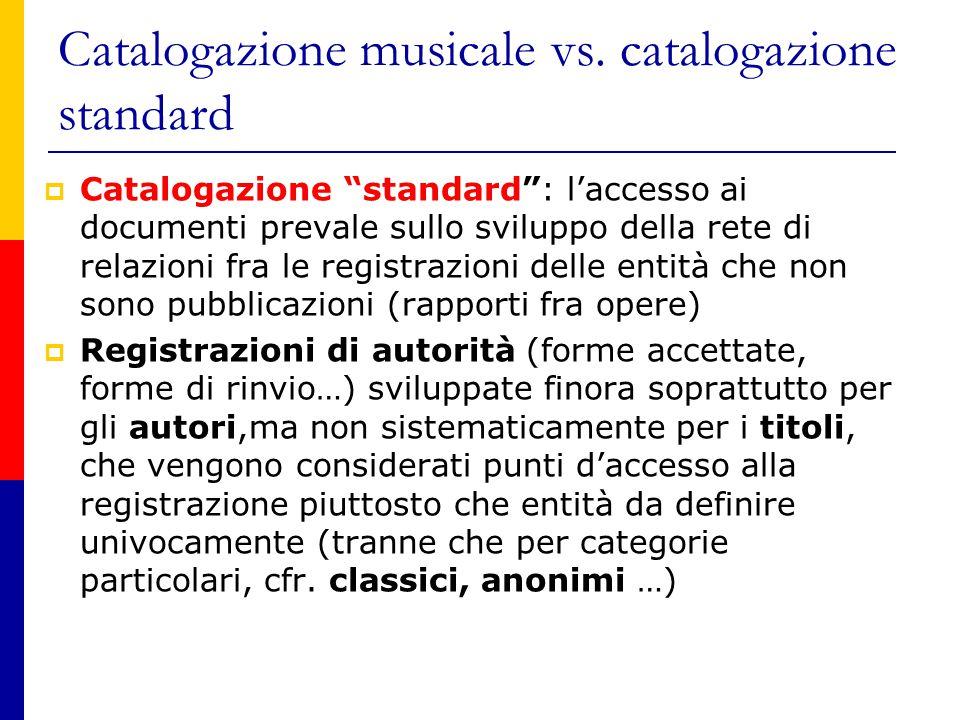 Catalogazione musicale vs.