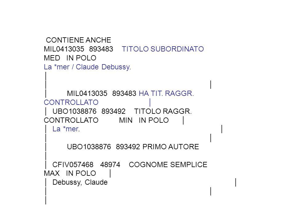 CONTIENE ANCHE MIL0413035 893483 TITOLO SUBORDINATO MED IN POLO La *mer / Claude Debussy.