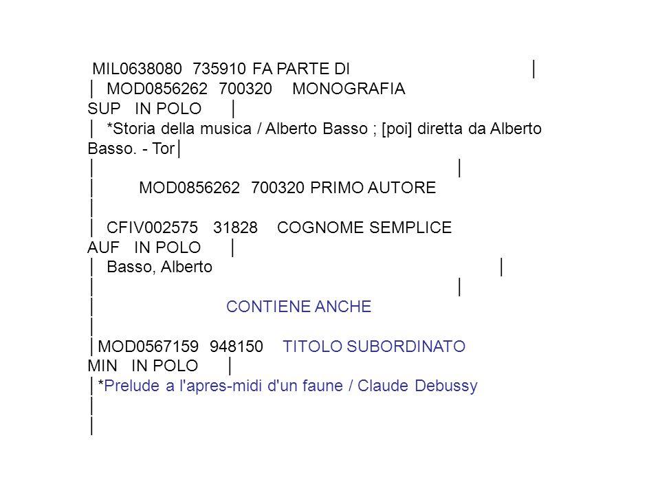 MIL0638080 735910 FA PARTE DI │ │ MOD0856262 700320 MONOGRAFIA SUP IN POLO │ │ *Storia della musica / Alberto Basso ; [poi] diretta da Alberto Basso.