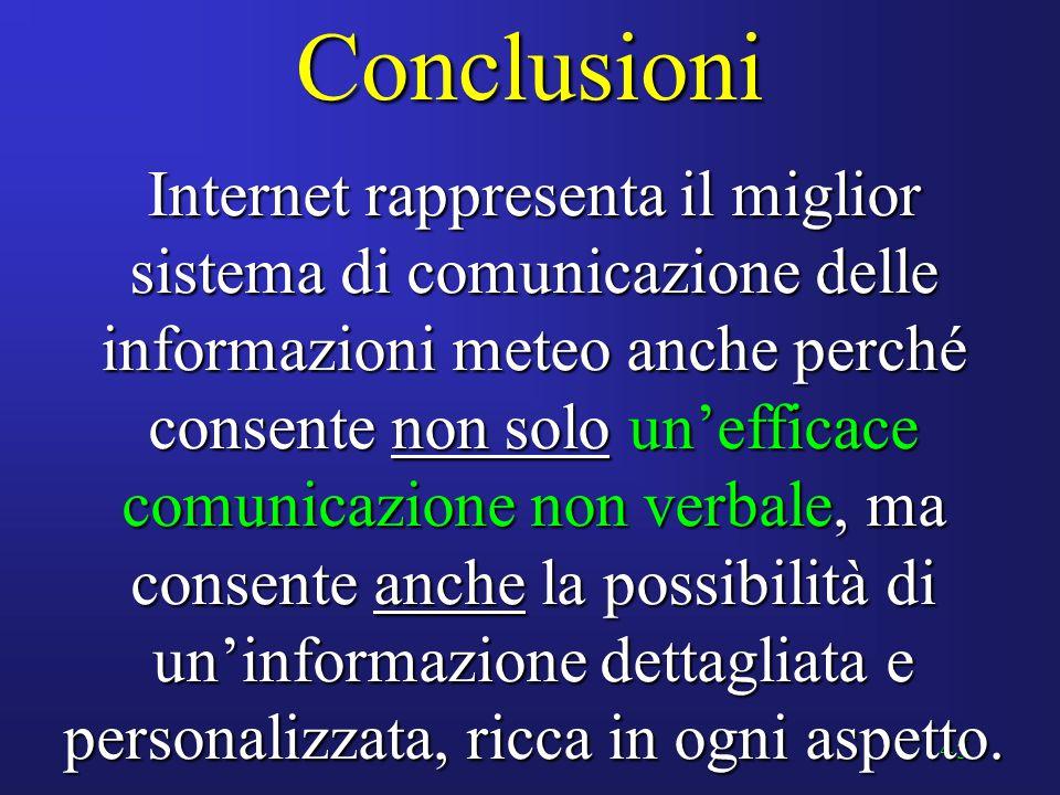 44 Abbiamo visto : Come la meteorologia sia intimamente connessa al progresso tecnologico, ed in particolare delle telecomunicazioni Come la meteorolo