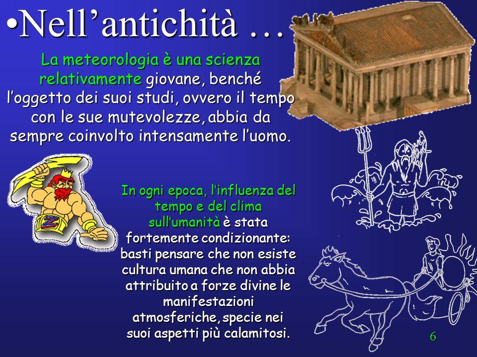 5 Qualche cenno storico … Nell'antichità …Nell'antichità … Torricelli (XVII secolo)Torricelli (XVII secolo) Il telegrafo (1837)Il telegrafo (1837) Il
