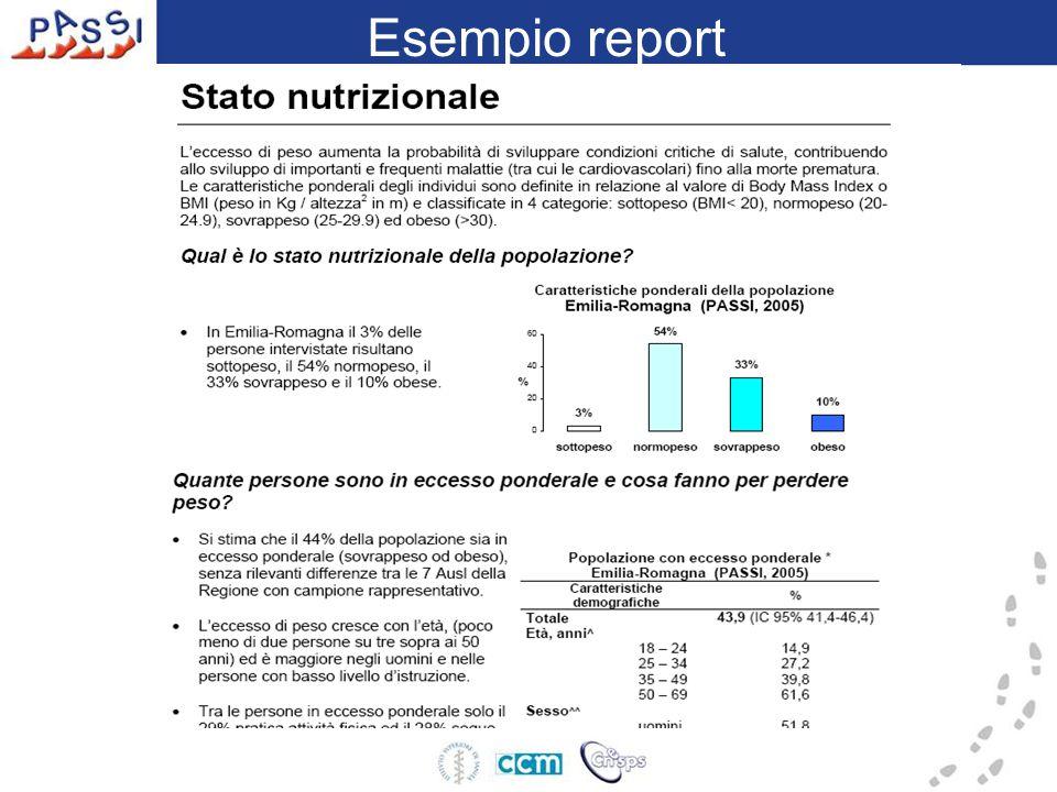 Esempio report