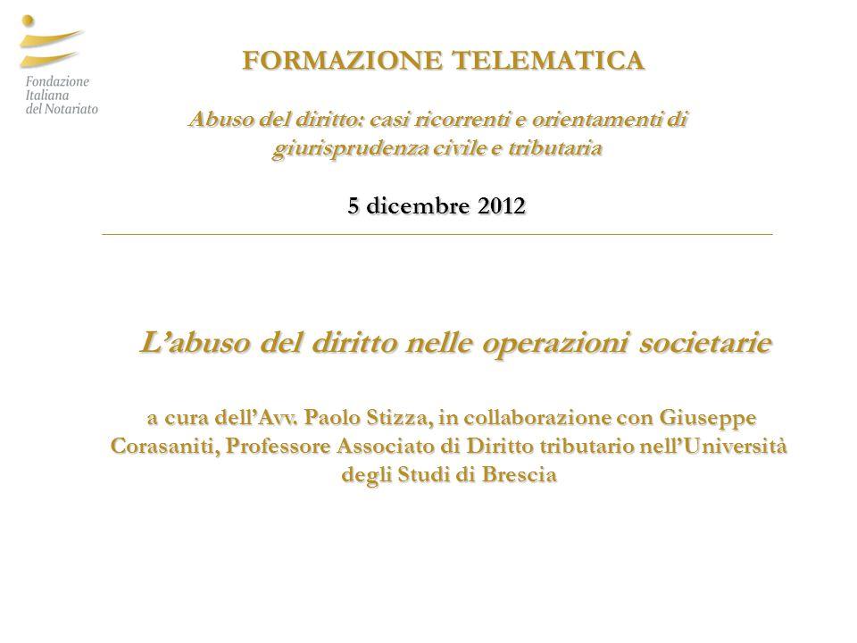 Sale and lease back, elusione e (assenza di ) vantaggi fiscali Corte di Cassazione, Sent.