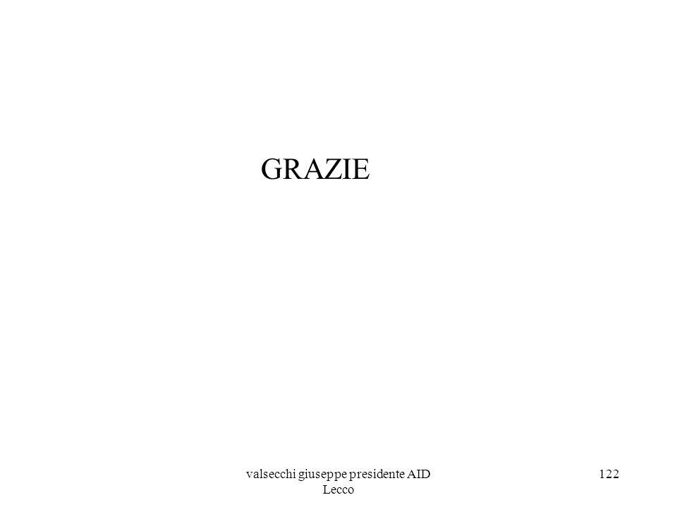 GRAZIE valsecchi giuseppe presidente AID Lecco 122