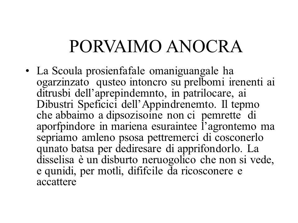 La Scoula prosienfafale omaniguangale ha ogarzinzato qusteo intoncro su prelbomi irenenti ai ditrusbi dell'aprepindemnto, in patrilocare, ai Dibustri