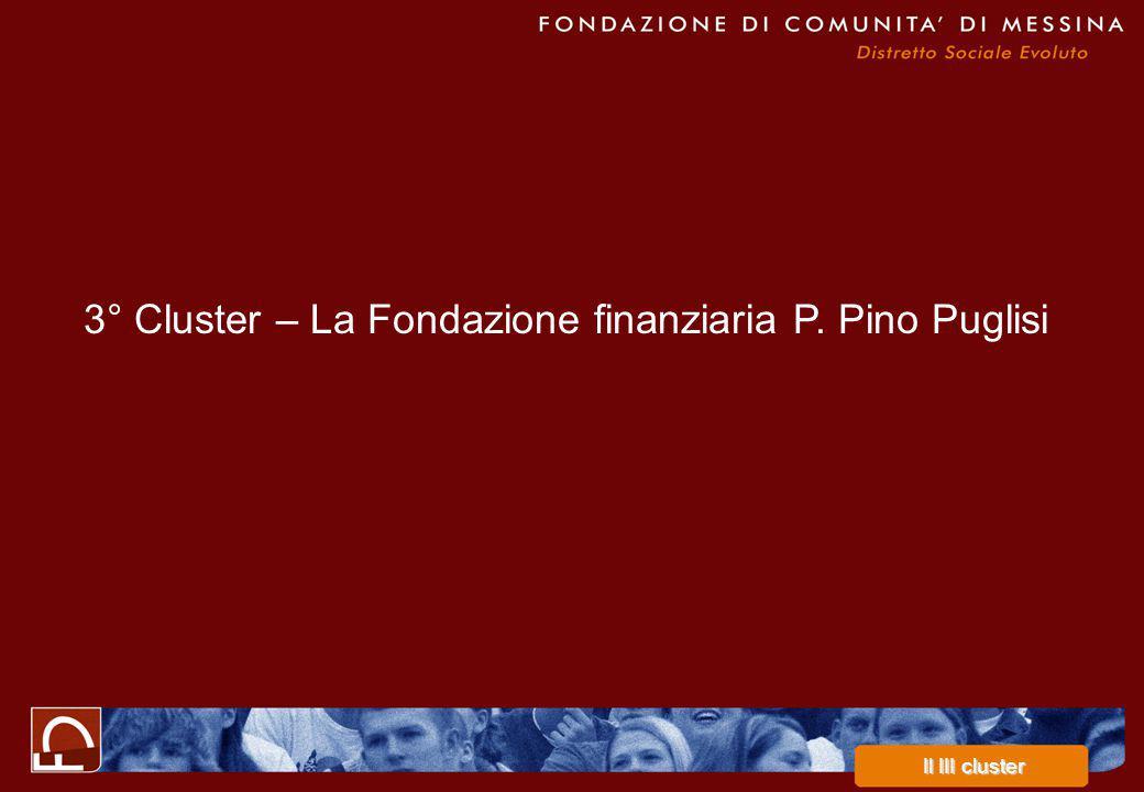 3° Cluster – La Fondazione finanziaria P. Pino Puglisi Il III cluster