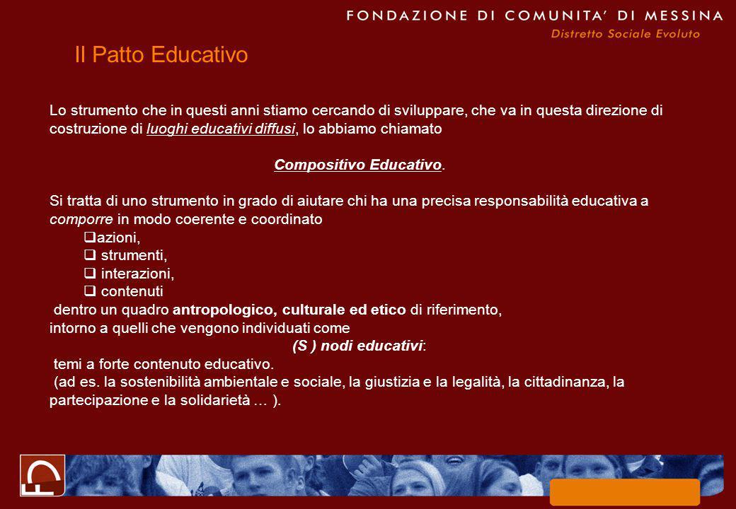 Lo strumento che in questi anni stiamo cercando di sviluppare, che va in questa direzione di costruzione di luoghi educativi diffusi, lo abbiamo chiamato Compositivo Educativo.