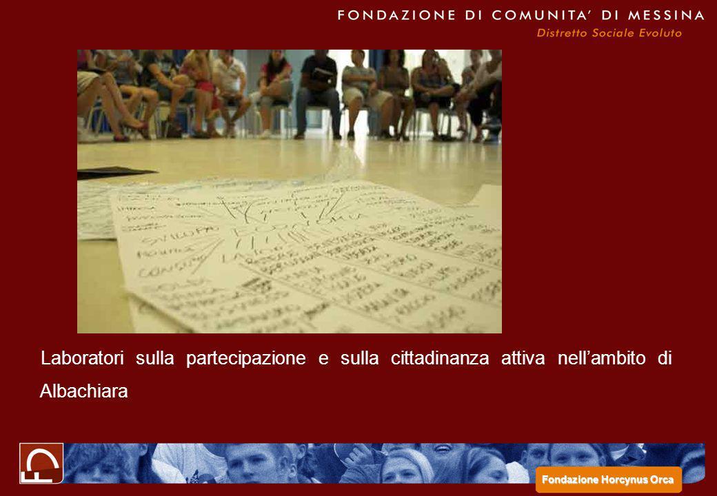 Laboratori sulla partecipazione e sulla cittadinanza attiva nell'ambito di Albachiara Fondazione Horcynus Orca