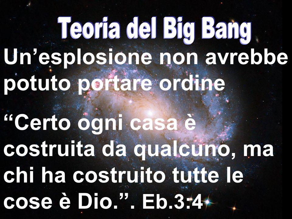 """Un'esplosione non avrebbe potuto portare ordine """"Certo ogni casa è costruita da qualcuno, ma chi ha costruito tutte le cose è Dio."""". Eb.3:4"""