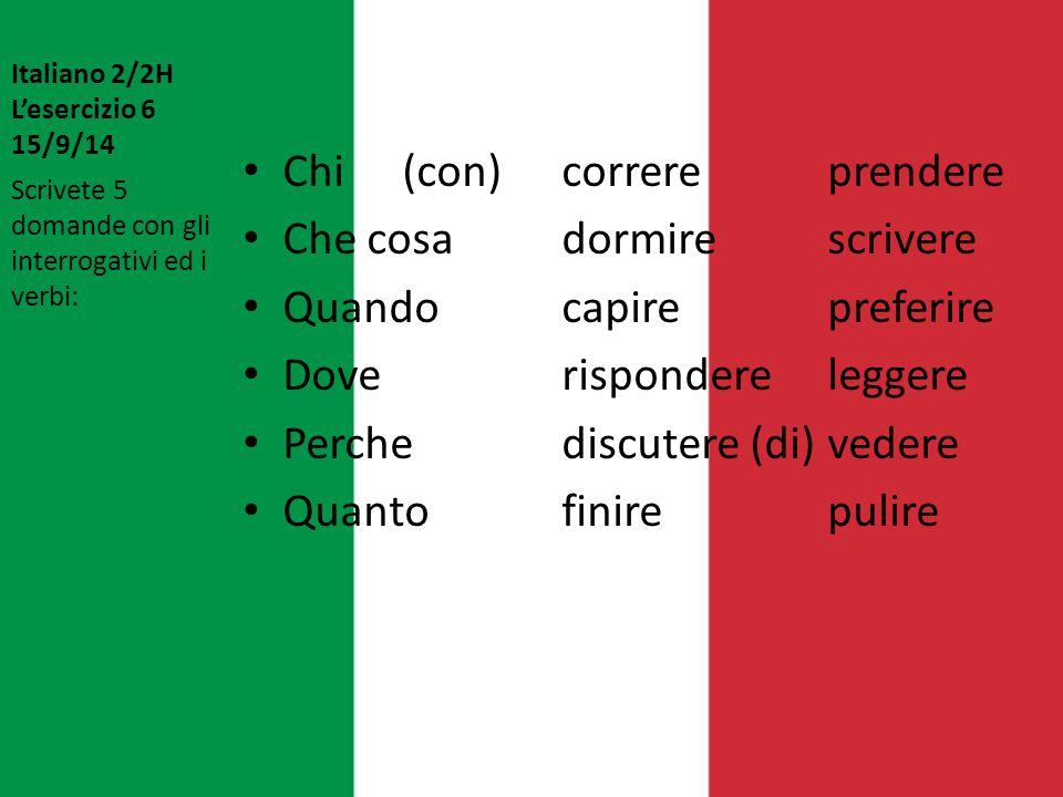 Italiano 2/2H L'esercizio 7 17/9/14 1.Qual'è il tuo abbigliamento favorito.