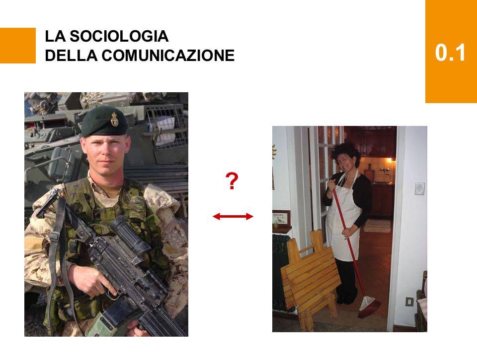 0.1 LA SOCIOLOGIA DELLA COMUNICAZIONE