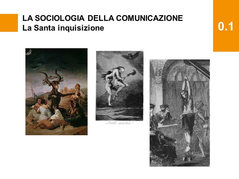 0.1 LA SOCIOLOGIA DELLA COMUNICAZIONE La Santa inquisizione