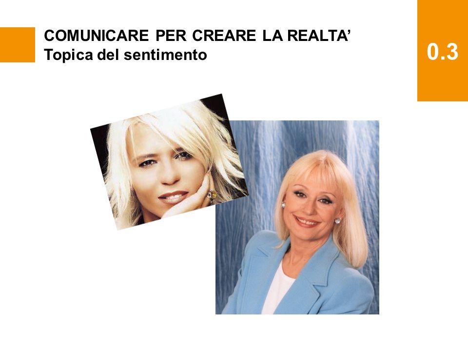 0.3 COMUNICARE PER CREARE LA REALTA' Topica del sentimento