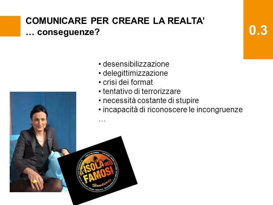 0.3 COMUNICARE PER CREARE LA REALTA' … conseguenze.
