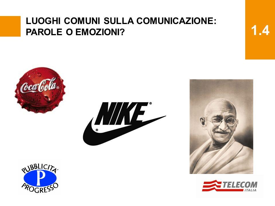 1.4 LUOGHI COMUNI SULLA COMUNICAZIONE: PAROLE O EMOZIONI