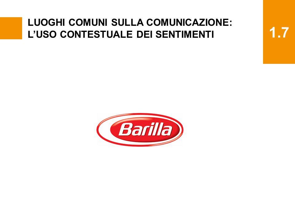 1.7 LUOGHI COMUNI SULLA COMUNICAZIONE: L'USO CONTESTUALE DEI SENTIMENTI