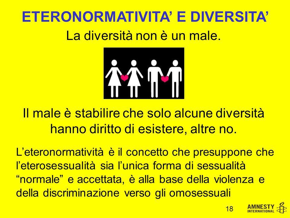 La diversità non è un male.
