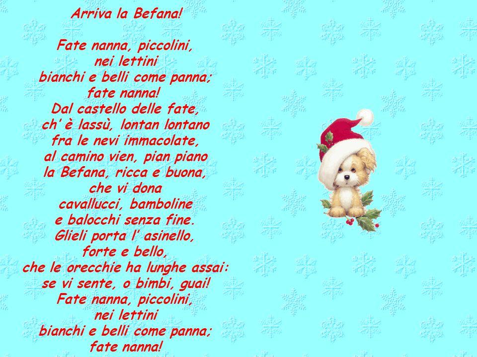 A mezzanotte La notte di Natale, è nato un bel bambino, bianco, rosso e tutto ricciolino. La neve cadeva. Cadeva giù dal cielo, Maria col suo velo Cop