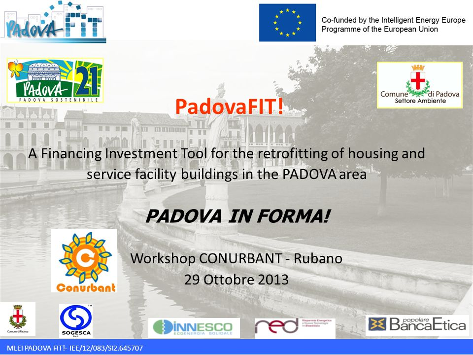 MLEI PADOVA FIT!- IEE/12/083/SI2.645707 PadovaFIT! A Financing Investment Tool for the retrofitting of housing and service facility buildings in the P