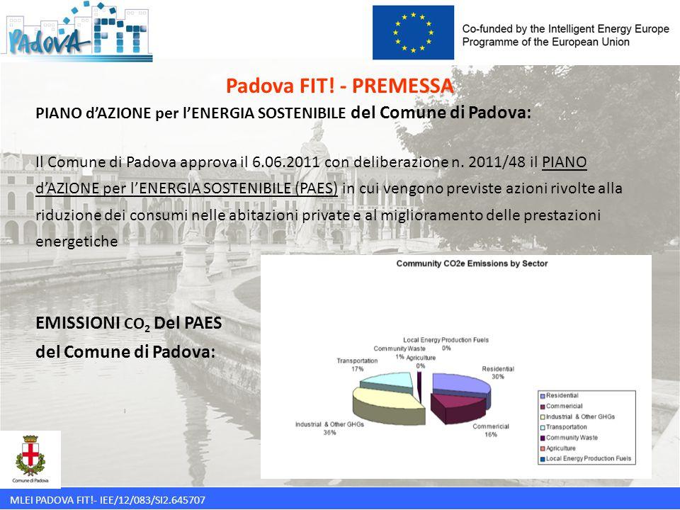 MLEI PADOVA FIT!- IEE/12/083/SI2.645707 PAES del Comune di Padova: SEZIONE 1: NUOVE ENERGIE A ZERO CO 2 Azione 1.