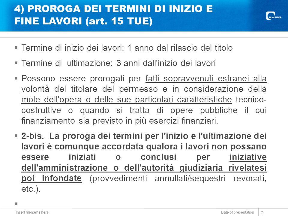 5) CONTRIBUTO DI COSTRUZIONE E TRASFORMAZIONE COMPLESSA (art.