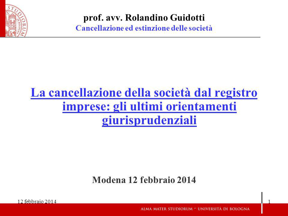 12 febbraio 20141 prof.avv.