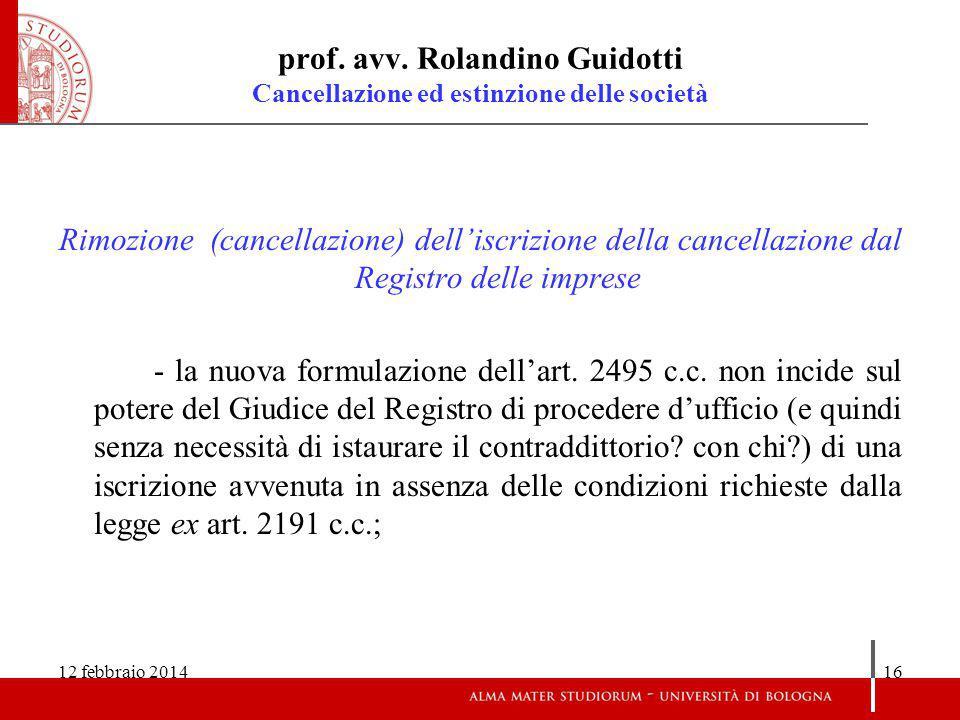 12 febbraio 201416 prof.avv.