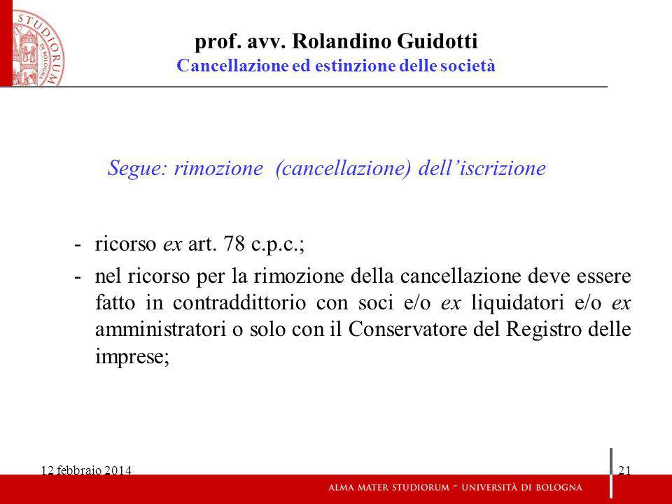 12 febbraio 201421 prof.avv.