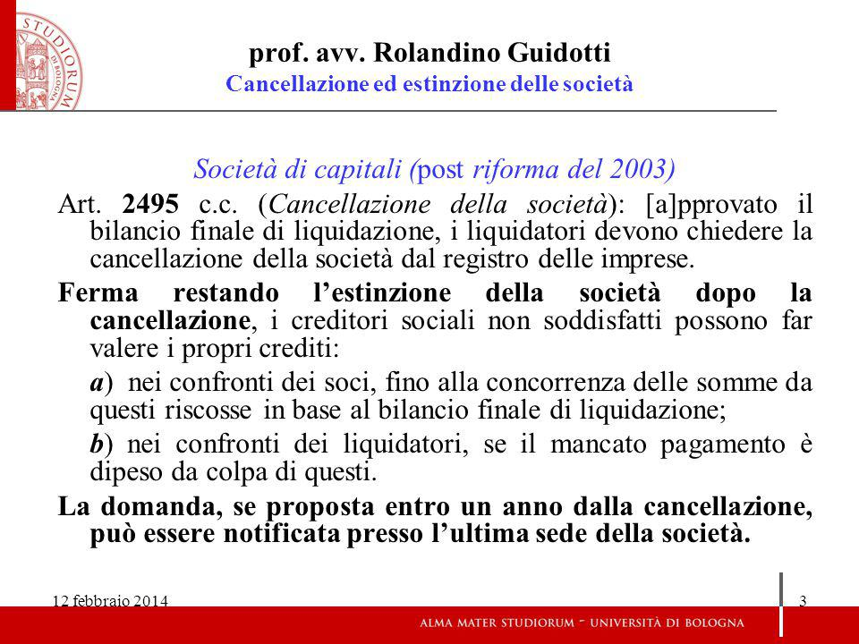 12 febbraio 201414 prof.avv.