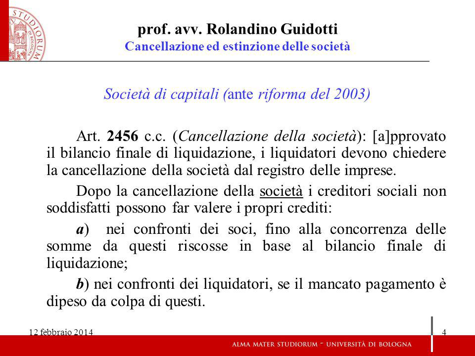 12 febbraio 201425 prof.avv.