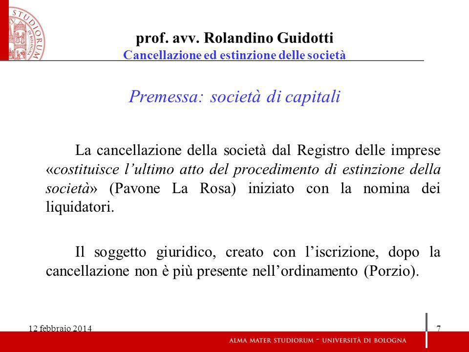 12 febbraio 201418 prof.avv.
