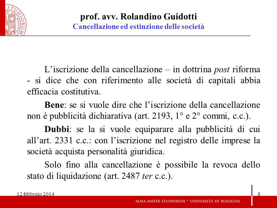 12 febbraio 20149 prof.avv.