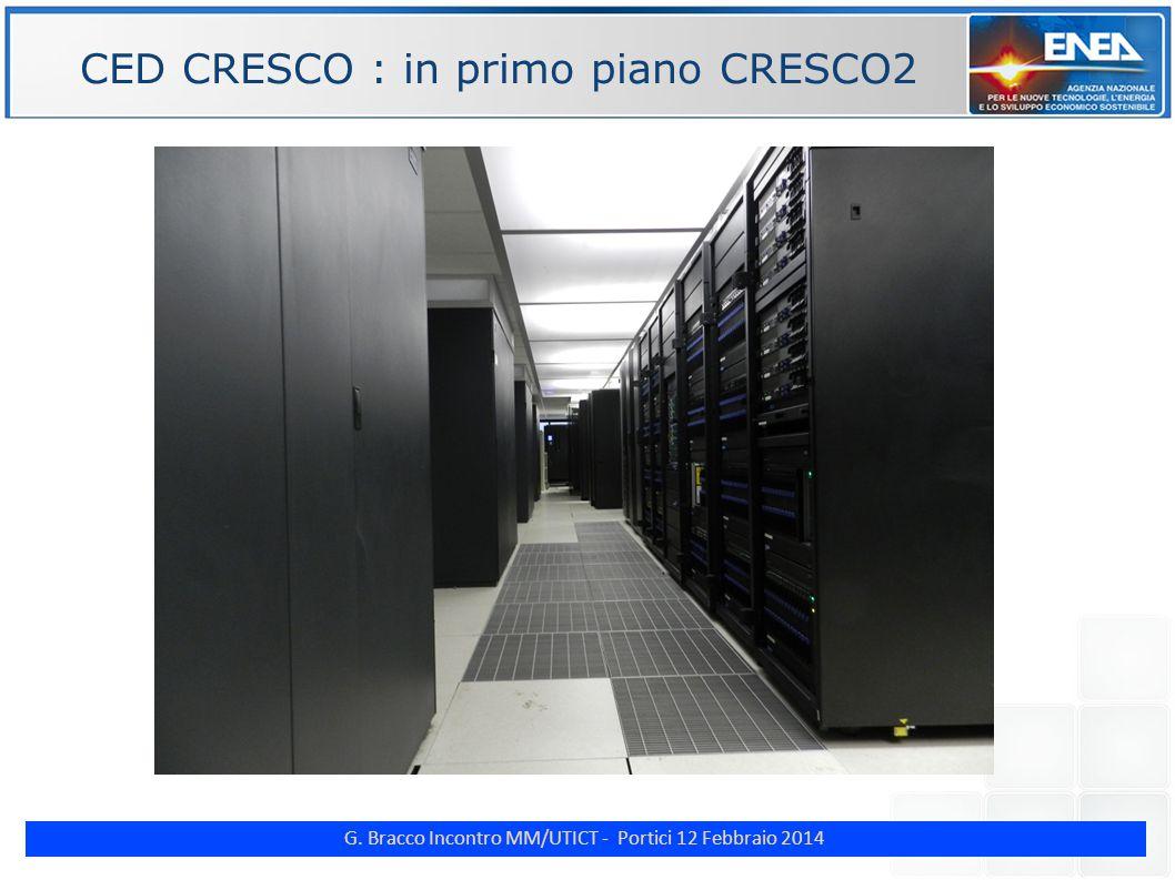 G. Bracco Incontro MM/UTICT - Portici 12 Febbraio 2014 ENE CED CRESCO : in primo piano CRESCO2
