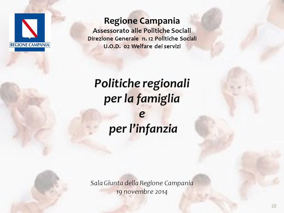 18 Regione Campania Assessorato alle Politiche Sociali Direzione Generale n.