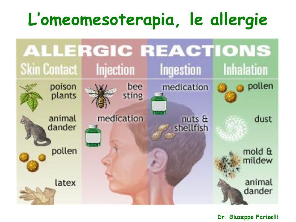 L'omeomesoterapia, le allergie Dr. Giuseppe Fariselli