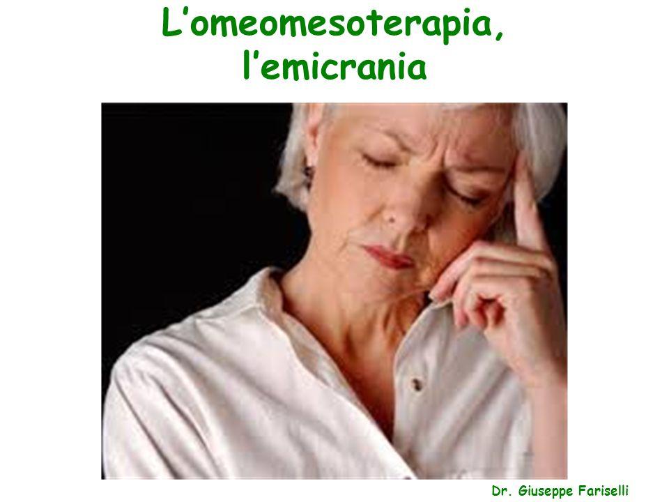 L'omeomesoterapia, l'emicrania Dr. Giuseppe Fariselli