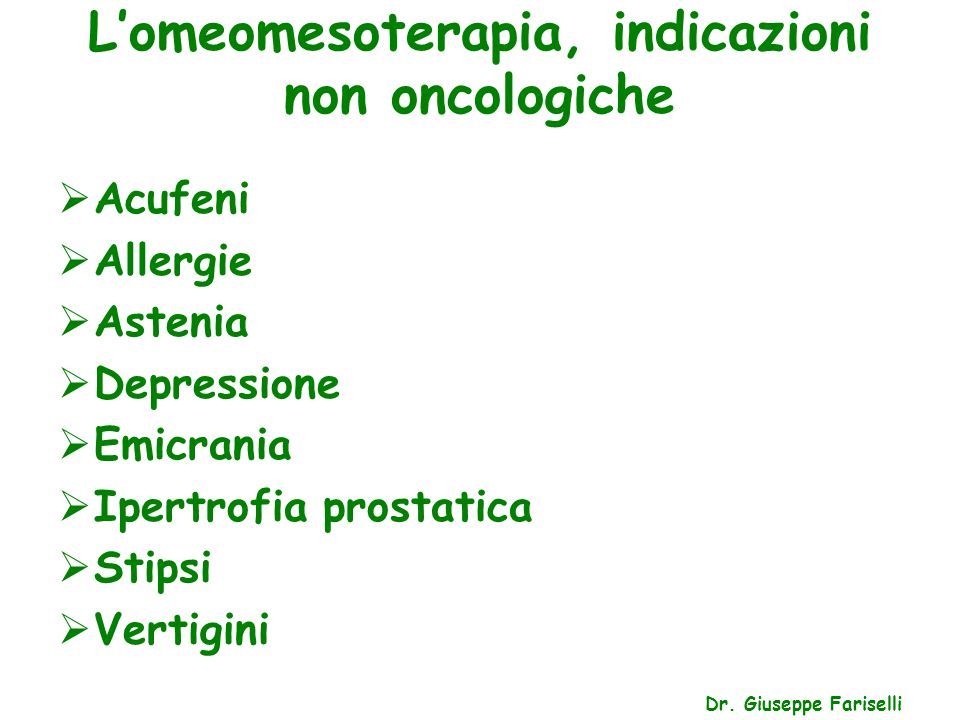 L'omeomesoterapia, l'herpes zoster Dr.