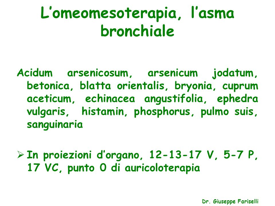 L'omeomesoterapia, le nevralgie Dr.
