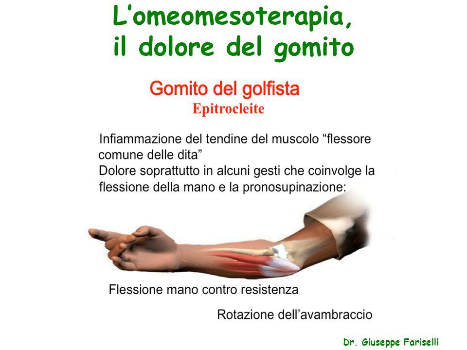 L'omeomesoterapia, il dolore del gomito Dr. Giuseppe Fariselli