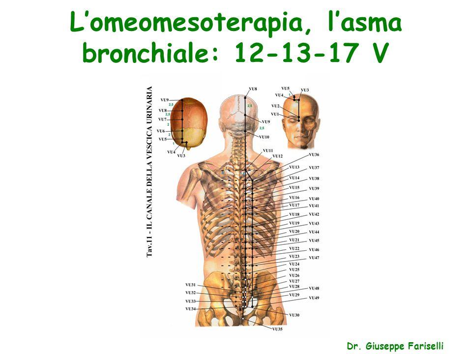 L'omeomesoterapia, l'asma bronchiale: 5-7 P Dr. Giuseppe Fariselli